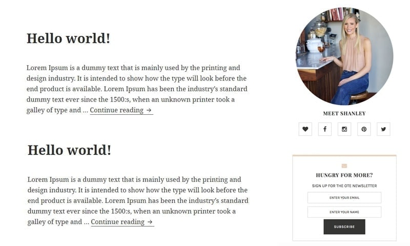 Create an ad-free sidebar design for your new blog.