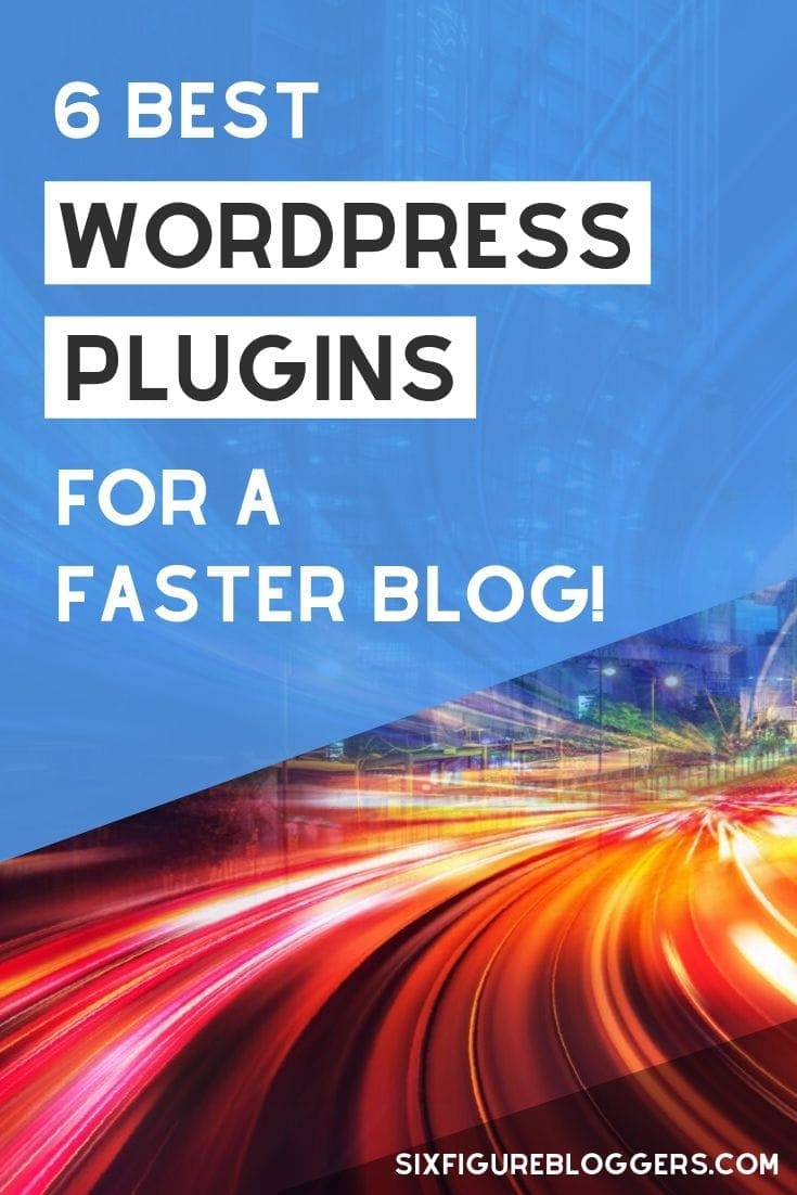 Slow websites SUCK! Let me show you how to get your WordPress blog to speed up! Use these six WP plugins and get a fast blog so you won\'t lose visitors and improve your Google rankings. #seo #google #wp #wordpress #plugins #sitespeed #fastblog #blog #blogging #blogs #sixfigurebloggers