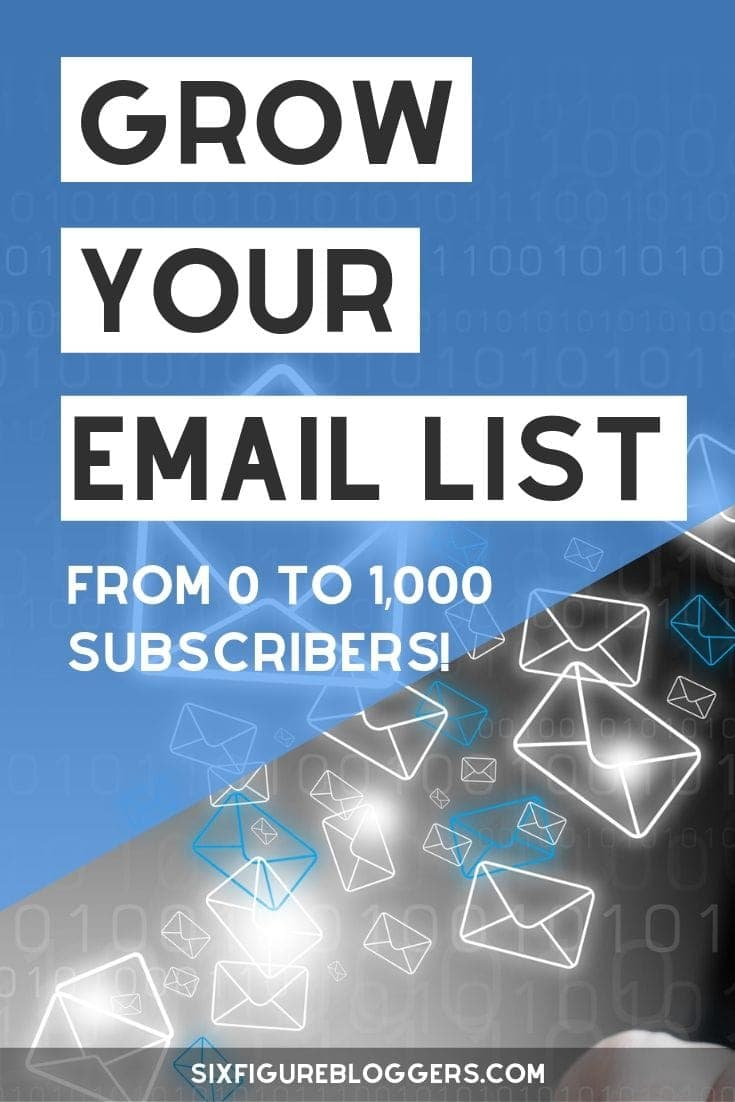How to grow your email list fast. Email marketing tips to get more email subscribers. #email #emaillist #emailmarketing #marketing #blogmarketing #emaillist #listbuilding #sixfigurebloggers