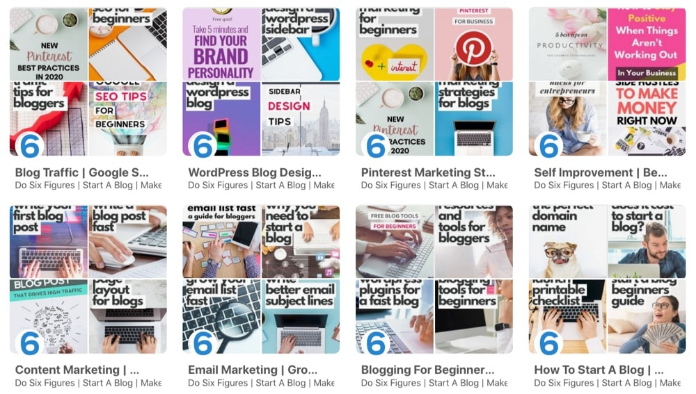 Create niche boards on Pinterest