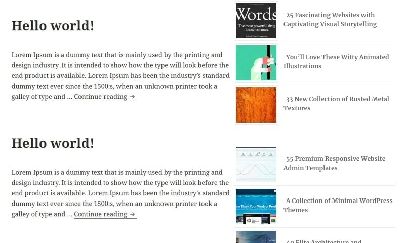Add links to your best and most popular content in the middle of your blogs' sidebar.