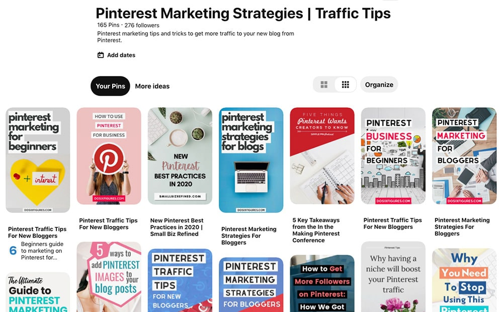 Populate your Pinterest boards with relevant pins
