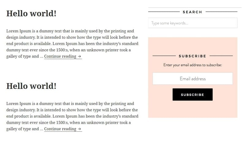 Keep the design of your blog sidebar simple on your blog.