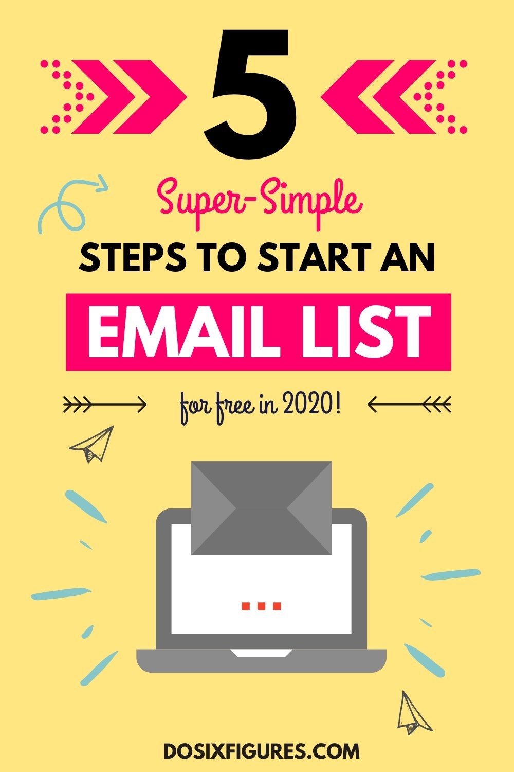 5 simple steps for starting an email list