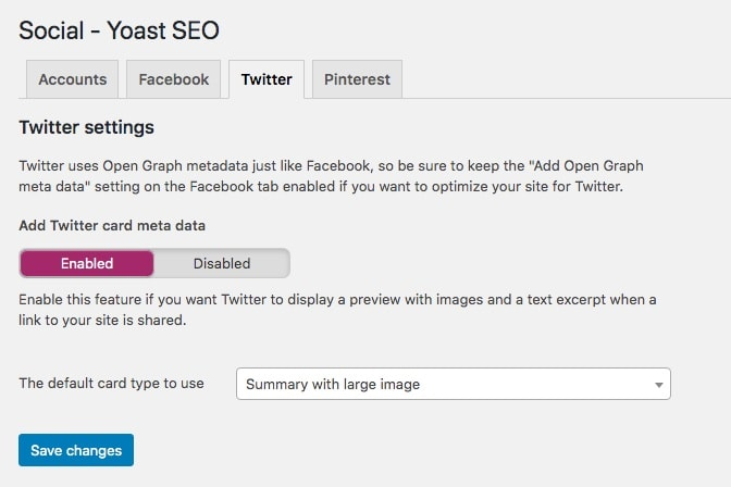 Activating Twitter cards with Yoast