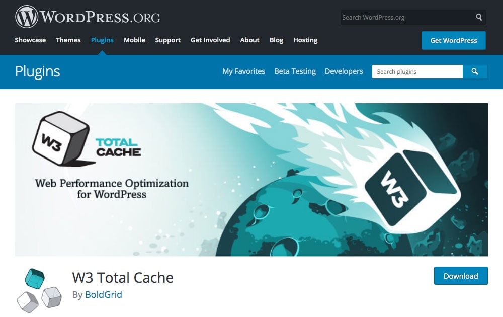 W3 Total Cache WordPress plugin to speed up your blog.