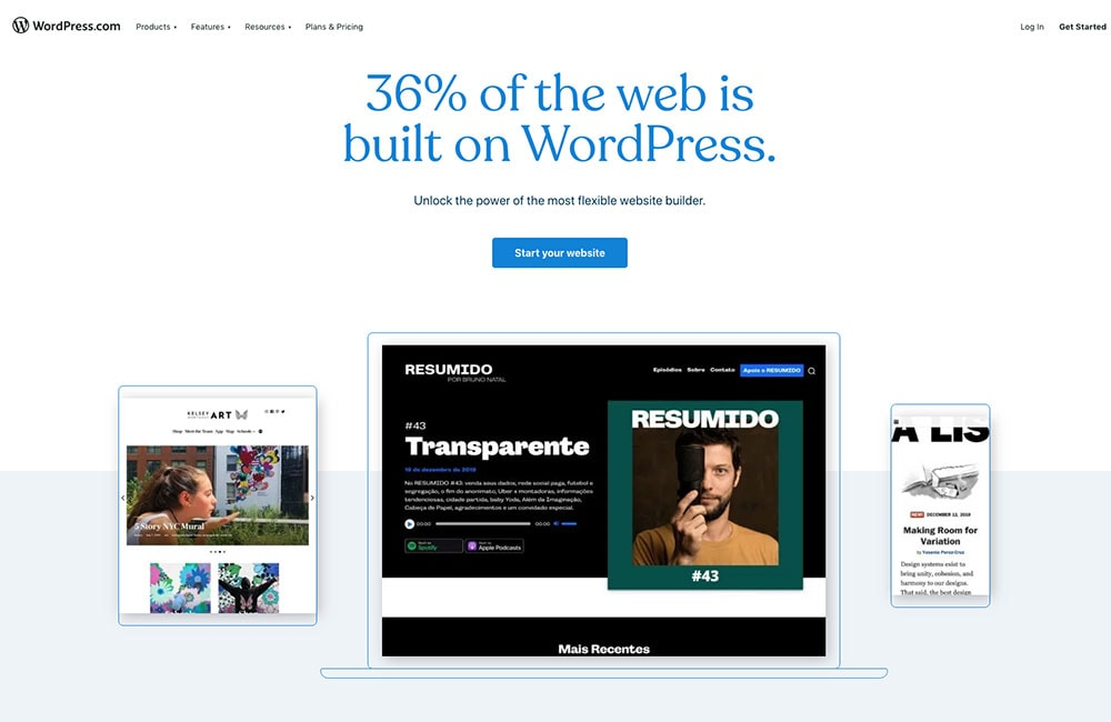 Wordpress.com free blog platform